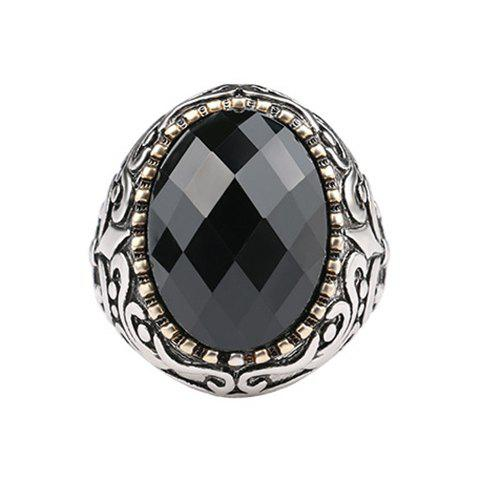 Faux Gem Ring - BLACK ONE-SIZE