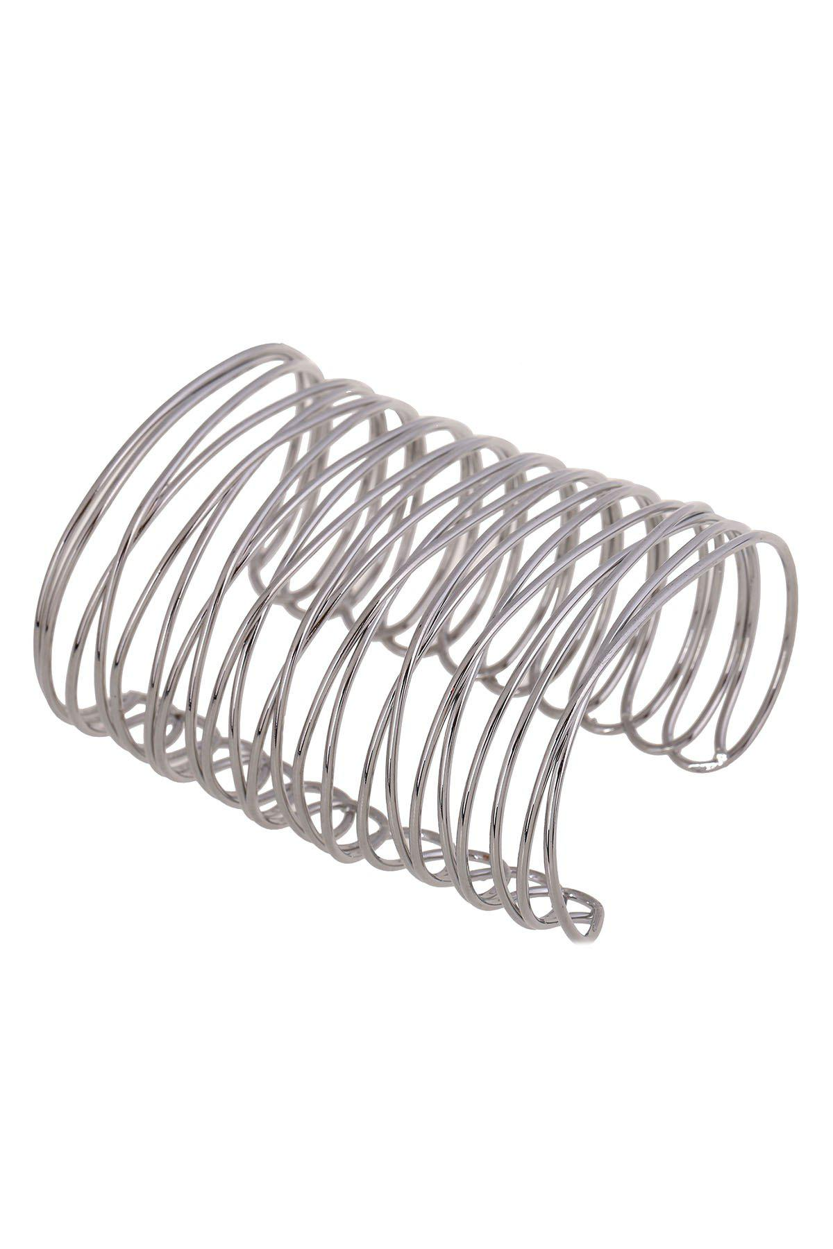 Punk Chunky Characteristic Cuff Bracelet - SILVER
