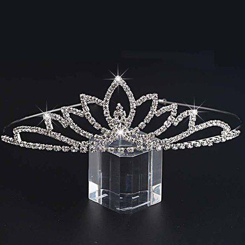 Gorgeous Rhinestone Floral Crown For Women - SILVER