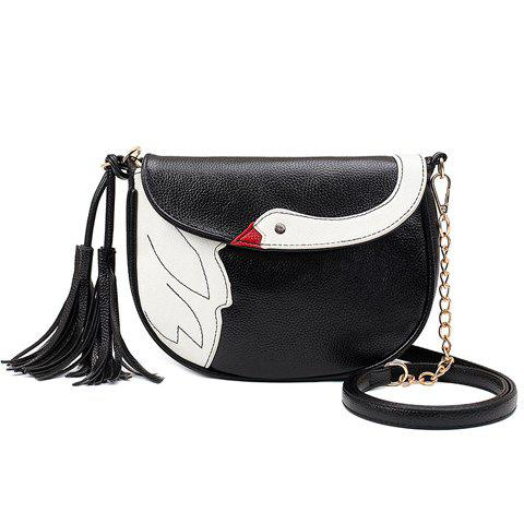Cute Tassels and Swan Pattern Design Crossbody Bag For Women