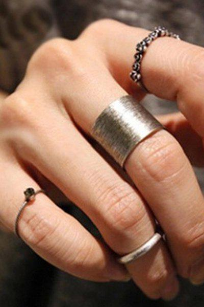 A Suit of Chic Simple Style Alloy Rose Rings For Women
