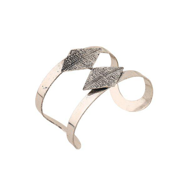 Chic Rhombus Carving Cuff Bracelet For Women