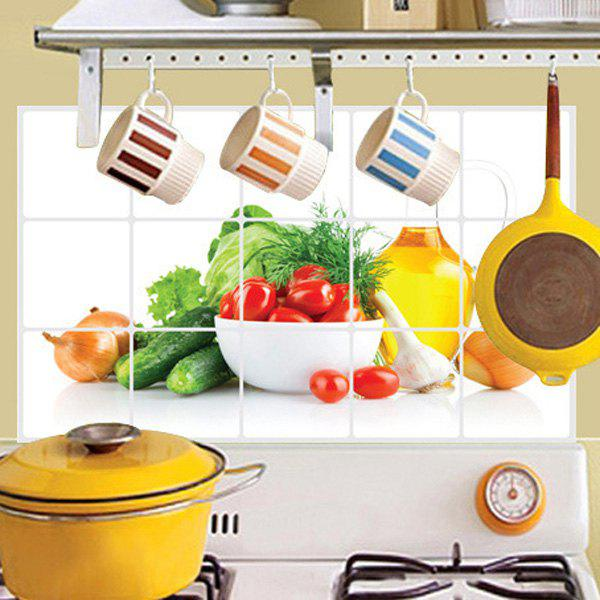 Kitchen Tiles Fruits Vegetables: 2018 Stylish Oil-Proof Vegetable Pattern Kitchen Tile