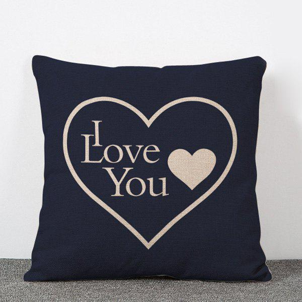 Stylish Love Heart Pattern Flax Pillow Case(Without Pillow Inner)