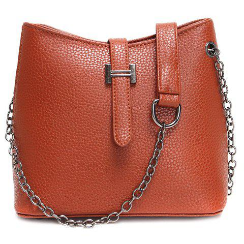 Fashionable Chain and Solid Colour Design Crossbody Bag For Women