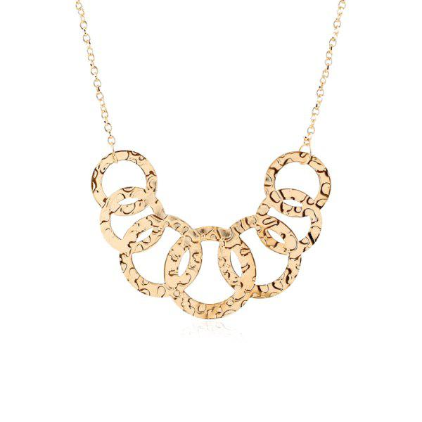 Chic Cross Circles Pendant Necklace For Women
