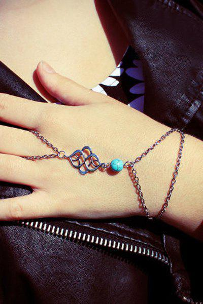 Stylish Turquoise Bead Decorated Bracelet For Women