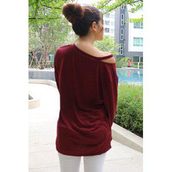 Casual Long Sleeve V-Neck T-Shirt For Women - ONE SIZE(FIT SIZE XS TO M) ONE SIZE(FIT SIZE XS TO M)