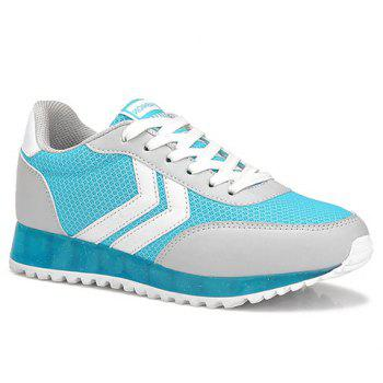 Trendy Splicing and Lace-Up Design Women's Athletic Shoes