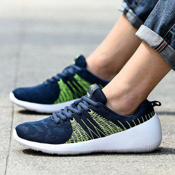Casual Colour Block and Lace-Up Design Men's Athletic Shoes - 44 44