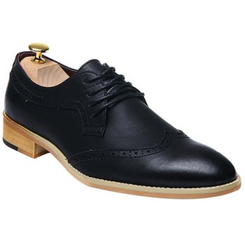 Fashion Lace-Up and Engraving Design Formal Shoes For Men