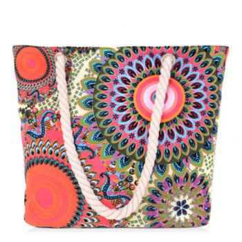 Simple Multicolor and Floral Print Design Women's Shoulder Bag