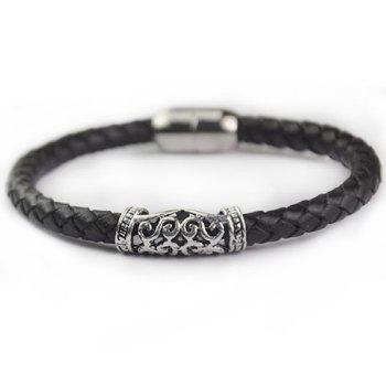 Faux Leather Carving Multilayered Bracelet