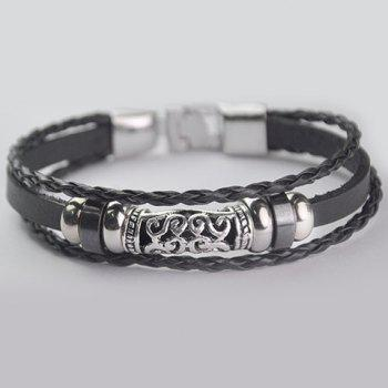 Multi-Layered Faux Leather Bracelet