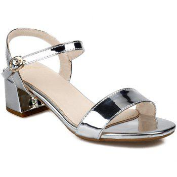 Stylish Solid Colour and Chunky Heel Design Women's Sandals