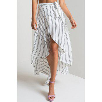 Ethnic Style Women's Striped High-Low Skirt