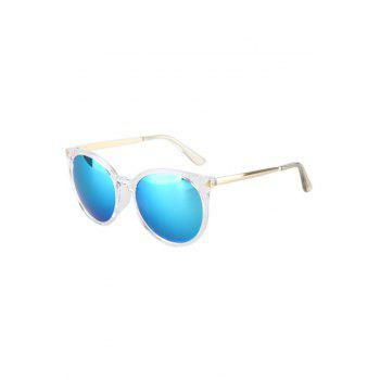 Fashion Triangle Inlay Transparent Cat Eye Frame Sunglasses For Women - AZURE AZURE