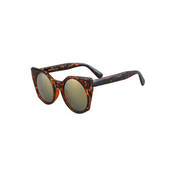 Fashion Round Lenses Leopard Pattern Cat Eye Sunglasses For Women - BROWN BROWN