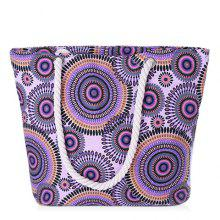 Concise Multicolor and Circle Pattern Design Women's Shoulder Bag