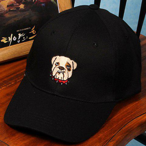 Chic Cartoon Dog Head Embroidery Baseball Cap For Women