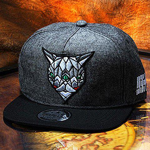 Stylish Special Animal Head Embroidery Men's Baseball Cap
