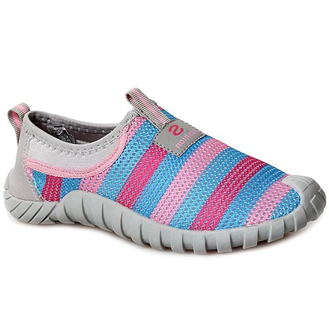 Casual Color Block and Mesh Design Sneakers For Women - BLUE/PINK 39