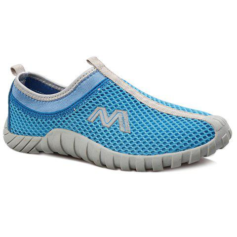 Casual Mesh and Slip-On Design Sneakers For Women - AZURE 40