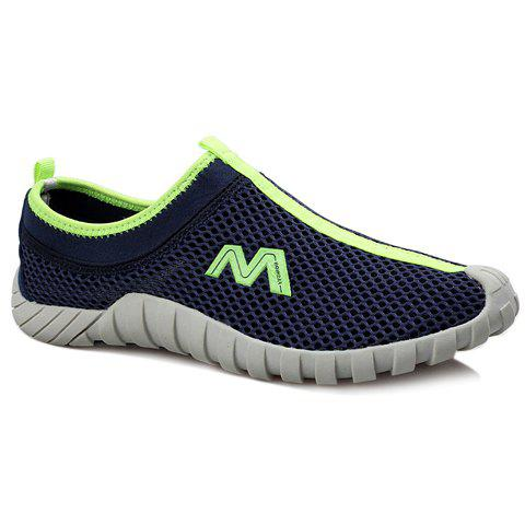 Casual Mesh and Slip-On Design Sneakers For Men - BLUE 41