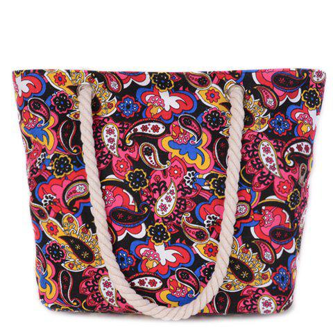 Fashionable Floral Print and Multicolor Design Women's Shoulder Bag