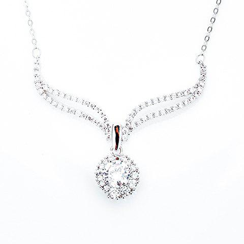 Gorgeous Rhinestone Necklace For Women - SILVER