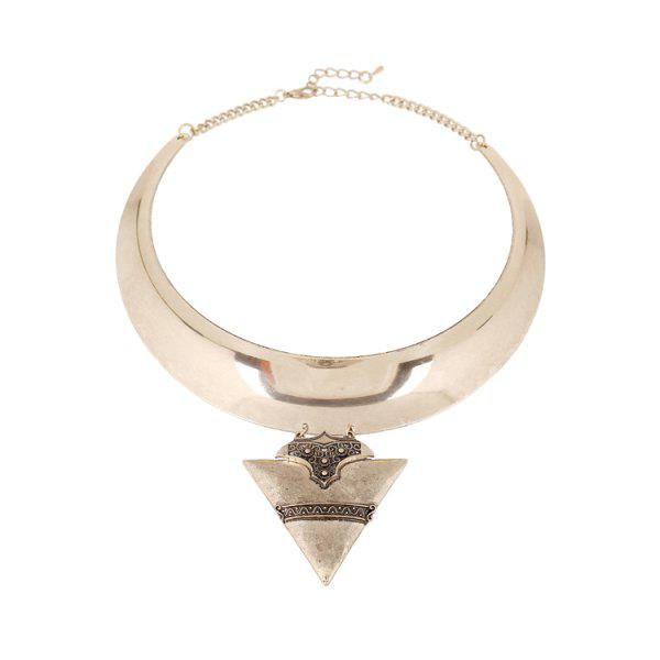 Stylish Triangle Chunky Torque Necklace For Women