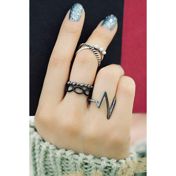 A Suit of Stylish Alloy Lighting Rings For Women