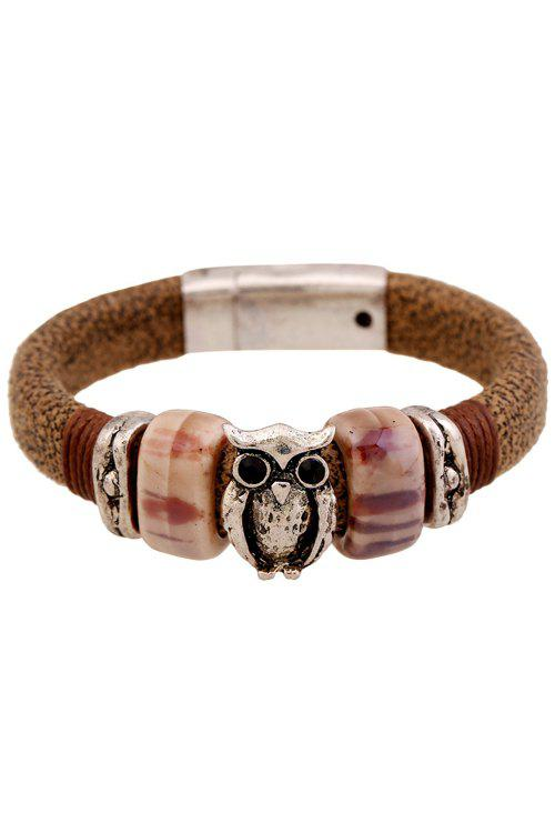 Vintage Owl Decorated Bracelet For Women - COFFEE