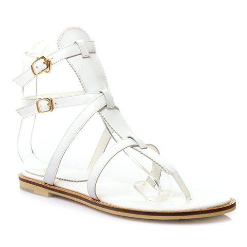 Trendy Flip Flops and Strap Design Sandals For Women - WHITE 35