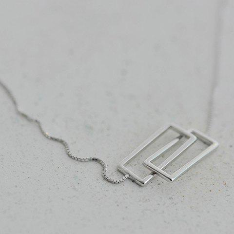 Chic Solid Color Geometric Necklace For Women - SILVER