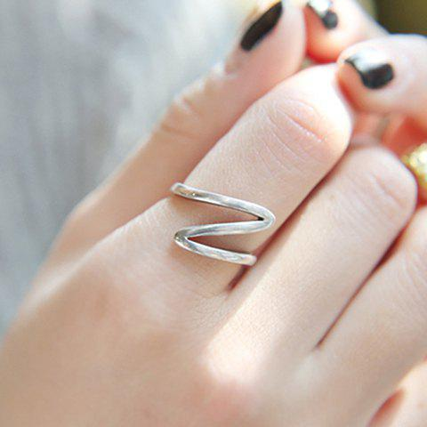 Wave Alloy Ring - SILVER ONE-SIZE