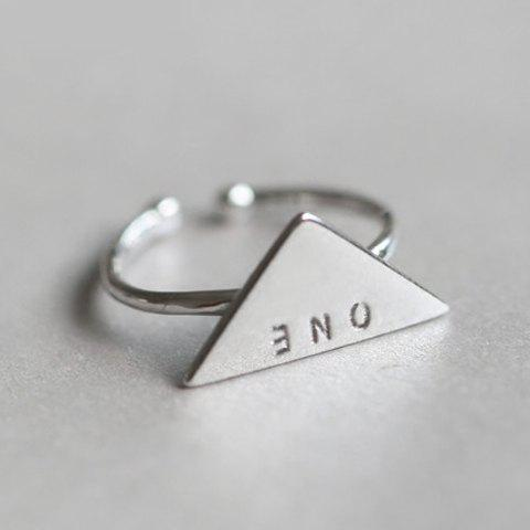 Chic Alloy Triangle Letter Ring For Women