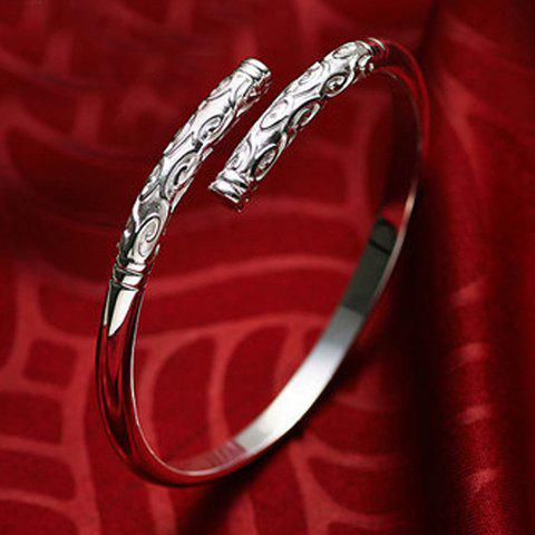 Chic Cloud Carving Cuff Bracelet For Women