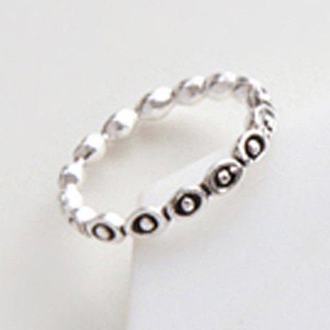 Chic Cloud Carving Ring For Women - SILVER ONE-SIZE