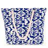 Trendy Color Block and Geometric Pattern Design Women's Shoulder Bag - BLUE/WHITE