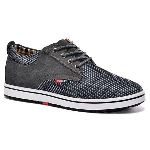 Casual Invisible Wedge et lacets design Sneakers For Men - Gris 43