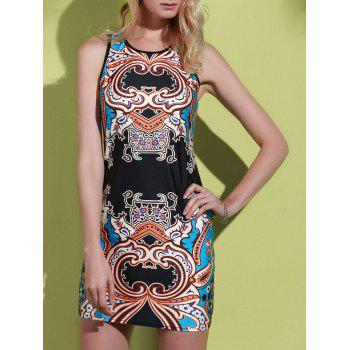Alluring Sleeveless Round Neck Printed Women's Dress