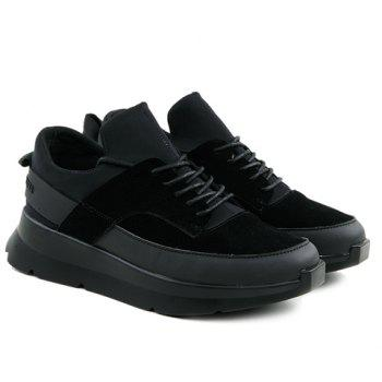 Stylish Black Colour and Splicing Design Men's Athletic Shoes - BLACK 43