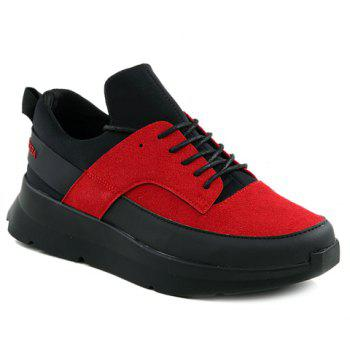 Stylish Suede and Colour Block Design Men's Athletic Shoes