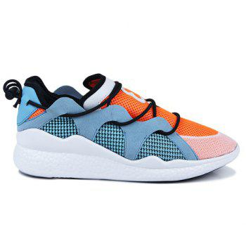 Fashionable Colour Block and Splicing Design Men's Athletic Shoes - ORANGE 39