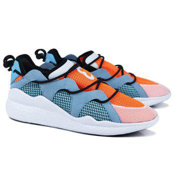 Fashionable Colour Block and Splicing Design Men's Athletic Shoes - 43 43