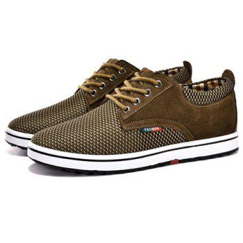 Casual Hidden Wedge and Lace-Up Design Sneakers For Men - 41 41