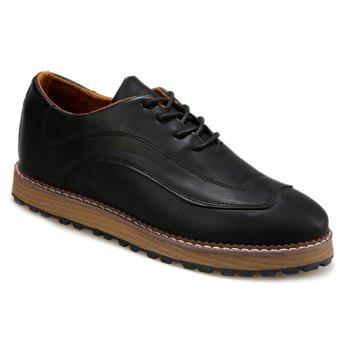 Casual Solid Color and Lace-Up Design Dress Shoes For Men
