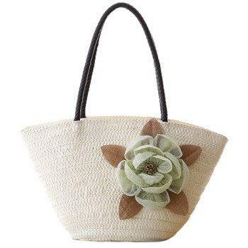 Casual Weaving and Flower Design Shoulder Bag For Women