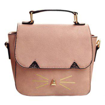 Cute Metal and Colour Block Design Women's Crossbody Bag
